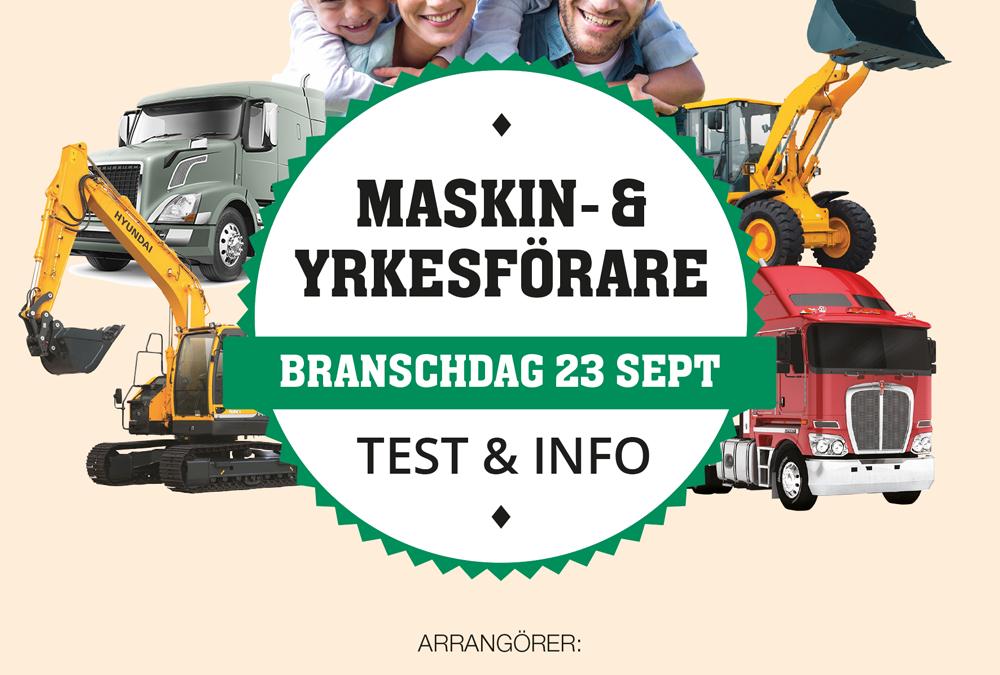 Besök oss på Maskin- & Yrkesförare branschdag 23 september